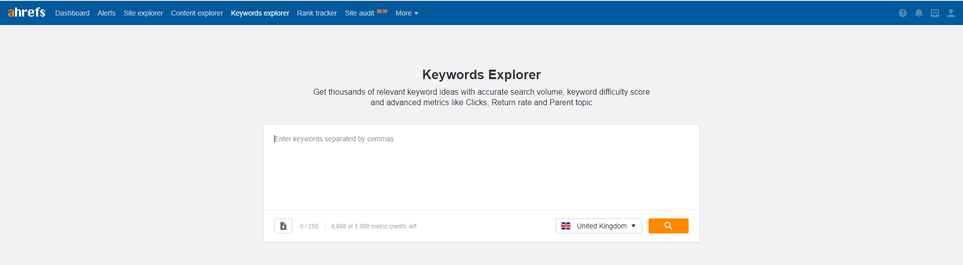 keyword research tool for SEO ahrefs